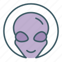 alien, avatar, circle, face icon