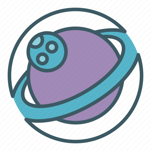 circle, moon, planet, ring, space icon