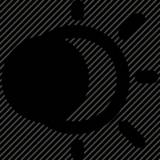 eclipse, solar icon