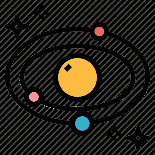 education, galaxy, satellite, space icon