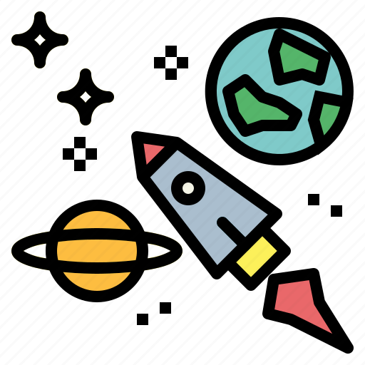 earth, galaxy, planet, space icon