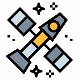 astronomy, galaxy, satellite, space, station icon