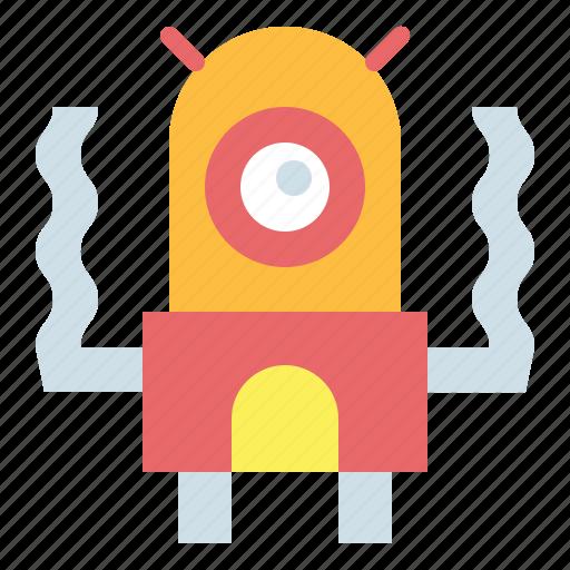 alien, extraterrestrial, monster, ufo icon