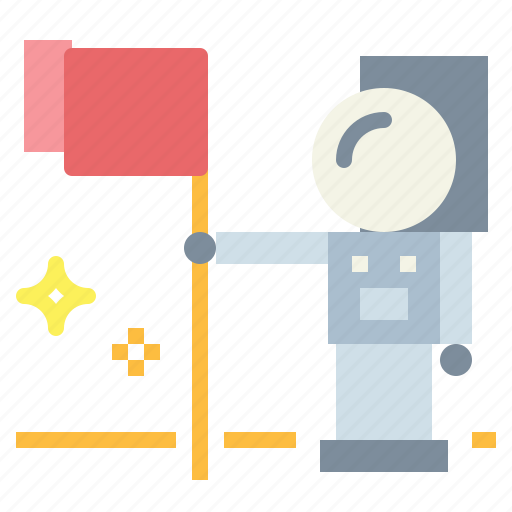 and, astronaut, flag, space, spaceman icon