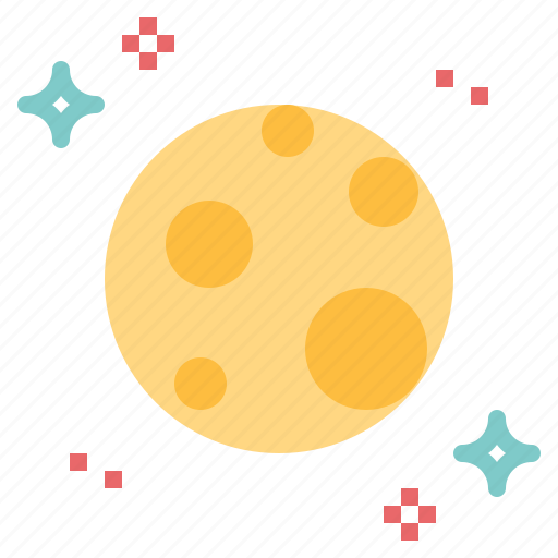 full, moon, phase, space icon