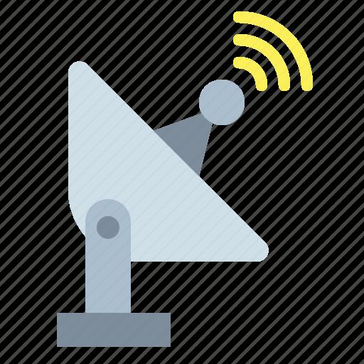 antenna, communications, dish, radar, satellite, wireless icon