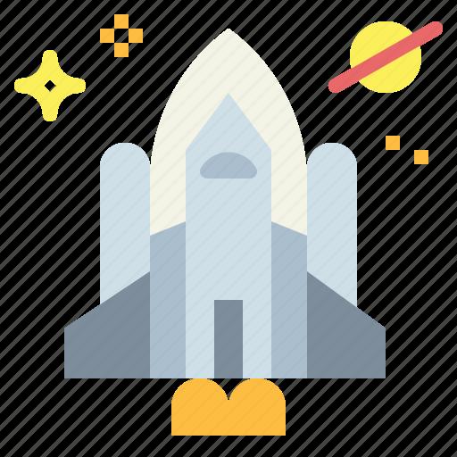 galaxy, rocket, ship, shuttle, space icon