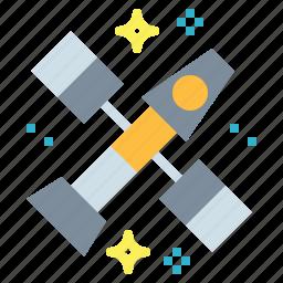 astronomy, galaxy, satellite, space, station icon