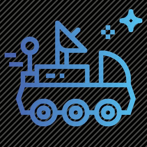 automobile, moon, rover, science, ship, space icon