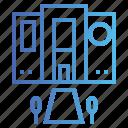 building, galaxy, nasa, science, space icon
