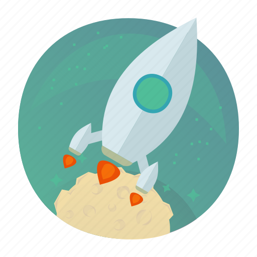 rocket, space, startup, takeoff, up icon