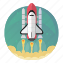 rocket, shuttle, space, start, startup, takeoff, up icon