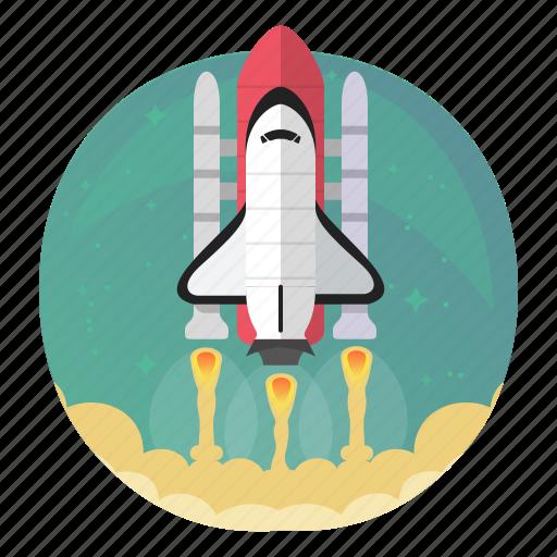 rocket, shuttle, space, start, startup, takeoff, up icon
