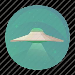 aliens, space, ufo, universe icon