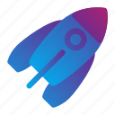 galaxy, rocket, space icon