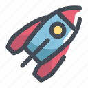 apollo, rocket, space icon