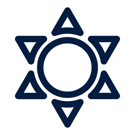 space and astronomy, sun icon