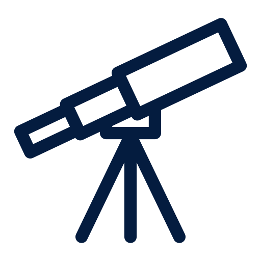 space and astronomy, telescope icon