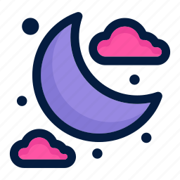 astronaut, astronomy, moon, night, science, space, weather icon