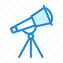 astronomy, lens, space, telescope icon