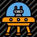 alien, extraterrestrial, robot, spaceship, ufo icon
