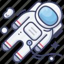 astronaut, moonwalk, space, suit