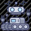 robotic, machine, artificial, robot icon