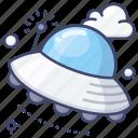 space, interstellar, spaceship, ufo icon