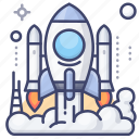 launch, launching, rocket, space icon