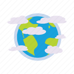 cartoon, earth, globe, planet, science, space, star icon