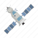 cartoon, communication, render, satellite, solar, space, technology icon