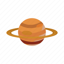 astronomy, cartoon, planet, ring, saturn, space, star icon