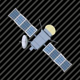 cartoon, communication, render, satellite, solar, space, technology icon