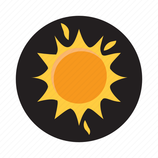 bright, cartoon, hot, orange, sun, sunlight, sunshine icon