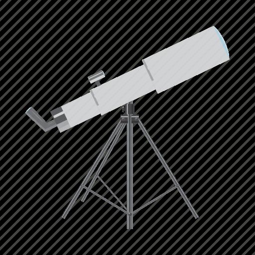 astronomy, cartoon, discovery, lens, science, spyglass, telescope icon