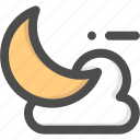 climate, cloud, forecast, half, meteorology, moon, weather