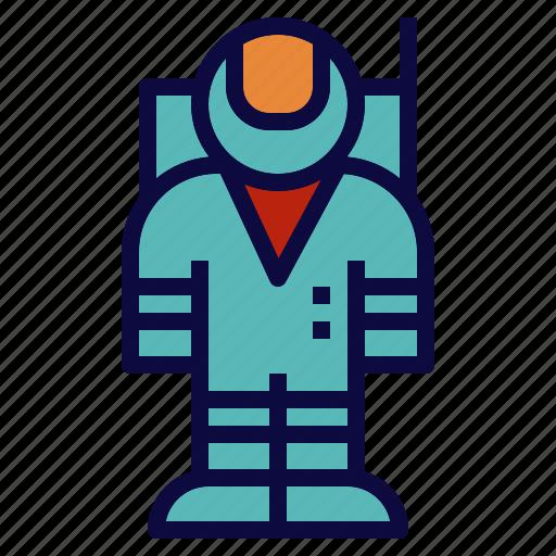 astronaut, explore, galaxy, man, space icon