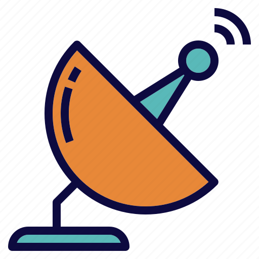 dish, receiver, satellite, signal icon
