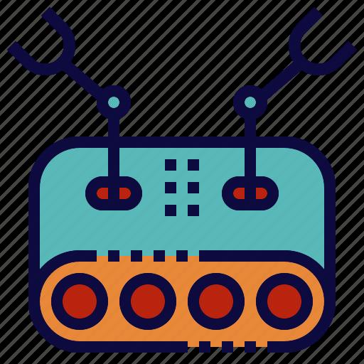 arm, explorer, hand, robot, robotics, tank icon