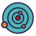 orbits, planet, stars, system icon