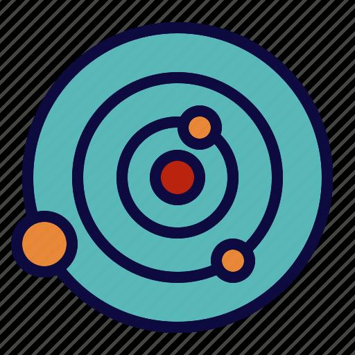 orbits, planet, stars, system icon