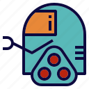 explore, robot, robotics, science, space icon