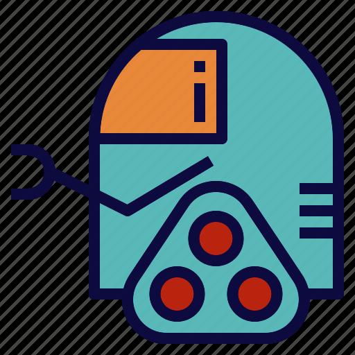 explore, robot, robotics, science, space icon