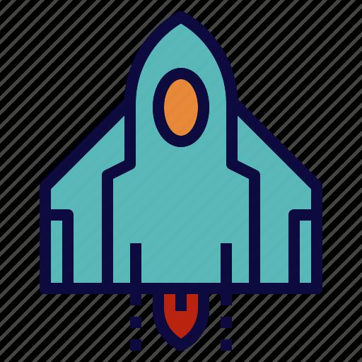 rocket, ship, space, spacecraft icon