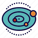 orbits, planet, solar, system icon
