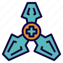 hospital, medical, outer, space icon