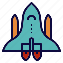 rocket, shuttle, space, spacecraft icon