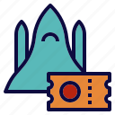 fly, shuttle, space, ticket, tour, travel icon