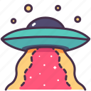 alien, astronomy, launch, observation, ship, spaceship, ufo icon