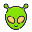 adventure, alien, astronomy, monster, outer space, space, ufo icon